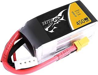Tattu 11.1V 3S 450mAh 75C LiPo Battery Pack with XT30 Plug for Multirotor FPV 90 to 150 Size