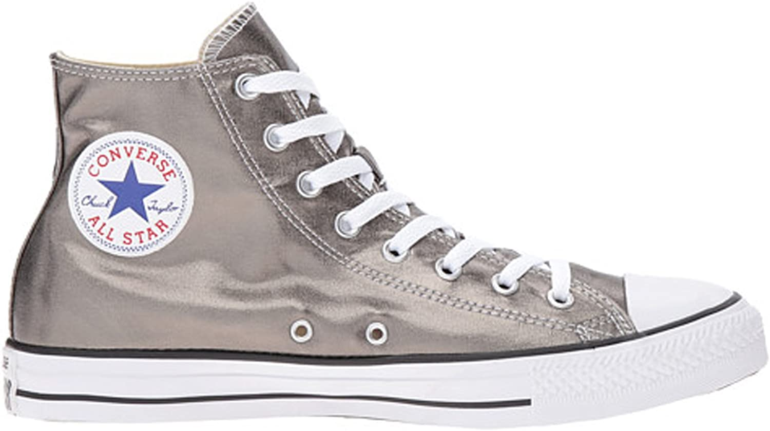 Converse Chuck Taylor All Star Metallic Canvas Hi Metallic Herbal White Black Athletic shoes