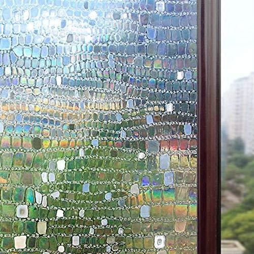 LMKJ Opaque mosaic frosted decorative window film PVC electrostatic adhesive self-adhesive privacy glass window sticker A29 50x200cm