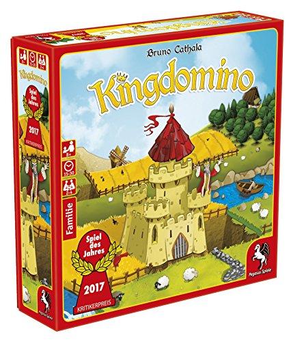 Pegasus Kingdomino, Brettspiel Estrategia - Juego de tablero (Brettspiel, Estrategia, 15 min, 30 min, 8 año(s), Alemán, Multicolor) , color/modelo surtido