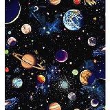 Baumwollstoff, Meterware, Nutex, Sonnensystem, Planeten
