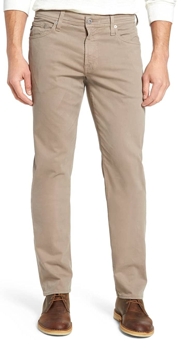 AG Adriano Goldschmied Men's The Graduate Sud Tailored Fit Pants In Flint Grey