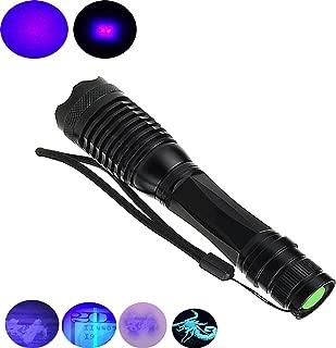 Mougerk UV Black Light Flashlight,Blacklight Ultraviolet LED Pet Urine Bed Bug Dog Stain Detector(Batteries Not Included)