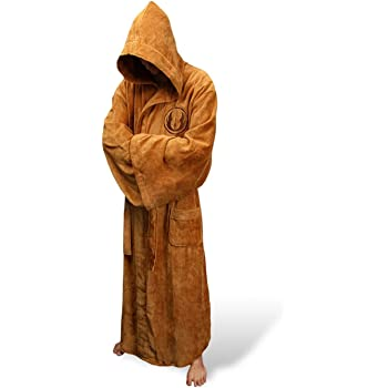 1PC Jedi Knight Robe Fleece Batas Star Wars Traje de ba/ño Cosplay Conjunto para Hombre y Mujer L, marr/ón