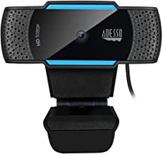 CyberTrack H5 1080P HD Auto Focus Webcam with Built-in Dual Microphone, Tripod Mount and Privacy Shutter Cover