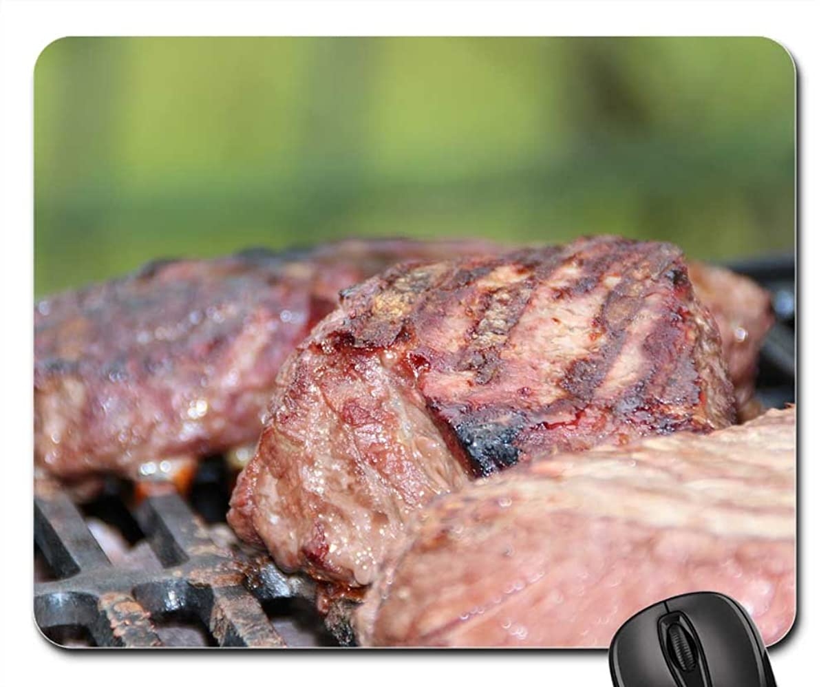 Mouse Pads - Steak Steaks Barbecue Summer Grill Meat Gas Grill