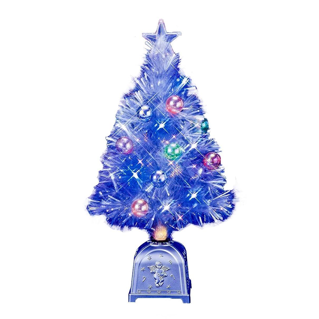 好奇心盛領収書作りますフローレックス(FLOREX) クリスマスツリー ファイバーツリー ファンタジーホワイト&ブルーLEDホワイトギャザーチップファイバーツリー 高さ60cm FX-3781