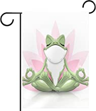 Tuinvlag, grappige kikker doet yoga print, Seizoensgebonden Outdoor Vlaggen 12 x 18 Dubbelzijdige Home Yard Decoratieve