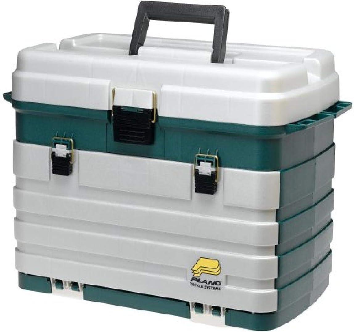 Plano 4-Drawer Max 74% OFF Tackle Box Green Albuquerque Mall Silver Metallic Size One