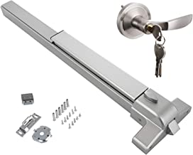 SHZOND Push Bar Panic Exit Device with Exterior Lever Stainless Steel Commercial Emergency Door Push Bar Suitable for Wood or Metal Door (Door Push bar with Lever)