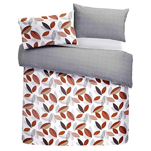 Fusion - Tazio - Easy Care Duvet Cover Set - Single Bed Size in Spice