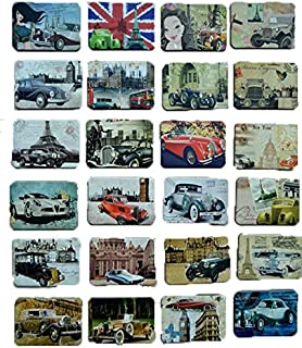 MISWEE 24-pcs magnetic fridge magnets refrigerator sticker home decoration accessories magnet paste arts crafts (classic cars)
