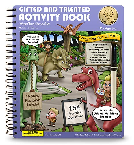 Compare Textbook Prices for Gifted and Talented Test Preparation: WIPE CLEAN RE-USABLE OLSAT Workbook for Children Ages 3-6; Pre-school and Kindergarten Prep Book; Gifted and Talented Test Prep 1st Edition ISBN 9780578193595 by Mind Inventions