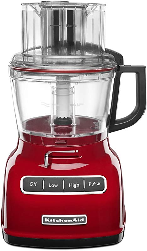 KitchenAid KFP0933ER 9 Cup Food Processor With Exact Slice System Empire Red