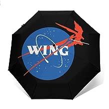 Gundam Mecha Aeronautics NASA Logo Windproof Compact Auto Open And Close Folding Umbrella,Automatic Foldable Travel Parasol Umbrella