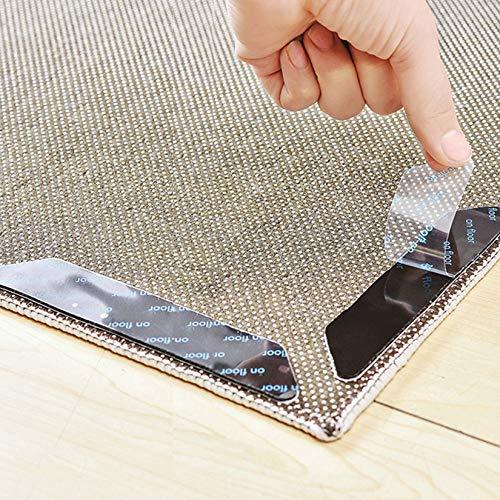IKOOMEE Rutschfeste Teppich-Greifer, 8 Stück, wiederverwendbare Bodenteppich-Pads, Aufkleber für Holz-, Laminat-, Marmor- und Keramikfliesenböden.