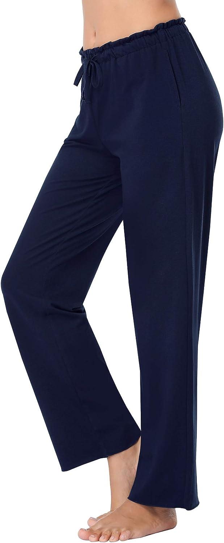 COLORFULLEAF Women's Bamboo Pajamas Pants Wide Leg Yoga Pants Lounge & Sleep Bottoms with Pockets