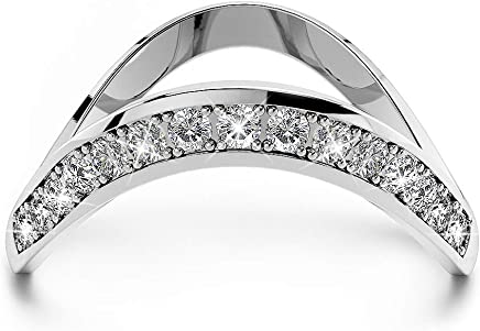 KRYSTAL COUTURE Contortion Ring w/Swarovski® Crystals-White Gold/Clear Modern Jewellery for Women