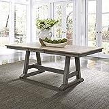Liberty Furniture Industries Lindsey Farm Trestle Table, W38 x D78 x H30, Light Gray
