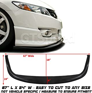 GT-Speed Universal Fit CS Style PU Front Bumper Add on Lip Flat Splitter Plate Under Panel