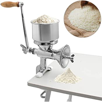 CGOLDENWALL Household Manual Mill Wheat Corn Grain Grinder Nuts Grinder Stainless steel bean Rice grinder Flour grinding machines with Hand Crank Home use