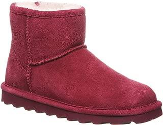BEARPAW 女式 Alyssa 靴子 波尔多红 11 B(M) 美国