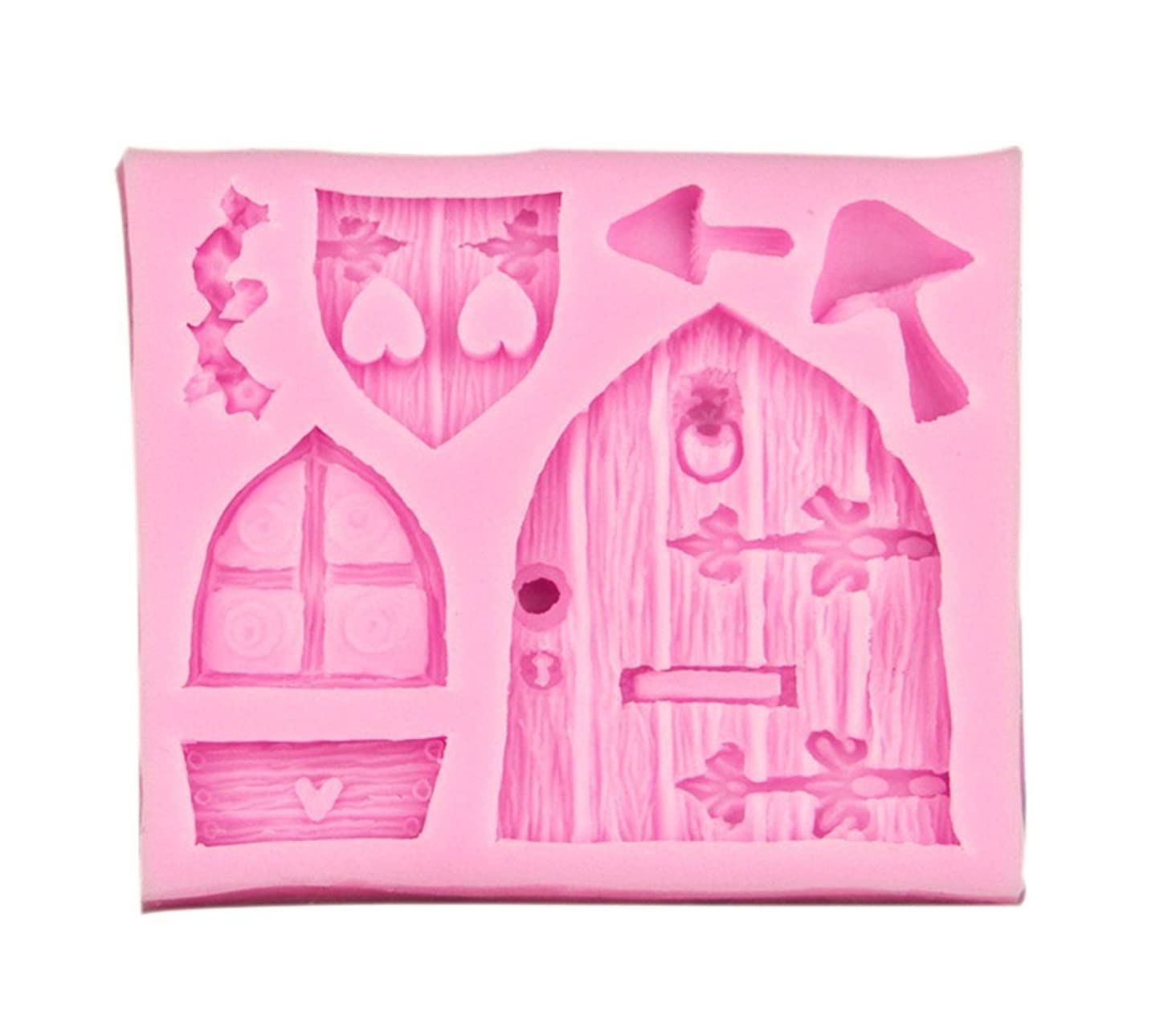 Cake Mould - TOOGOO(R)3D Fairy House Door Silicone Fondant Chocolate Cake Sugarcraft Mould Mold Tool