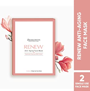 BERKOWITS HAIR & SKIN CLINICS Renew Anti Aging Face Mask Sheet (Pack of 2)