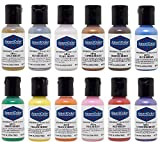 Americolor 12 Color SHEEN - PEARLESCENT Airbrush Color Kit  7.8 oz.  Ounce (0.65...