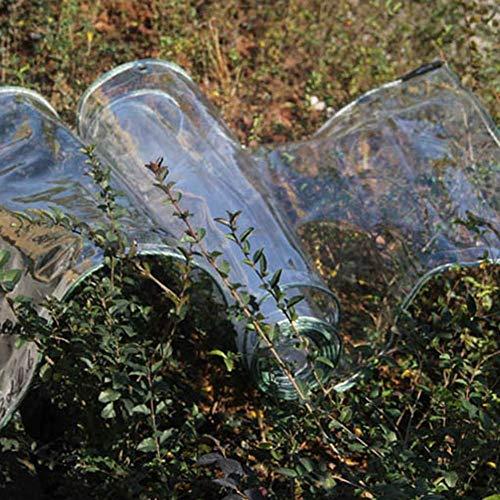 Lonas de PVC transparente engrosado con arandelas, tela de cortina transparente, lona transparente para estacionamiento de automóviles, aire acondicionado, lavado de autos (dimensiones: 1.5 × 5 m)