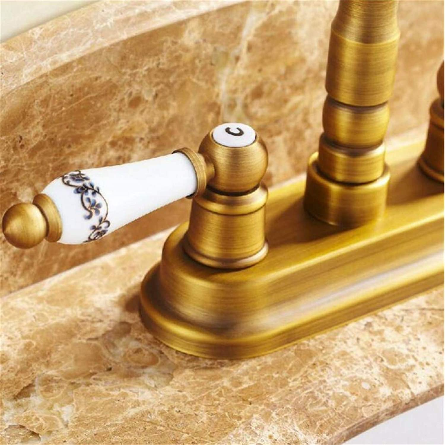 Retro Faucetsolid Brass Basin Mixer Tap Deck Mounted