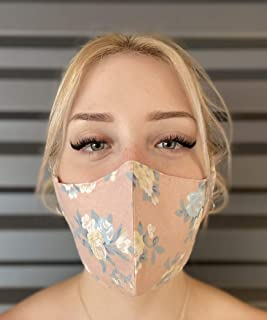 USA Cloth Face Mask includes 5 Polypropylene Filters, 100% Cotton Adult Face Mask, Double Layers Filter Pocket and Nose Wi...
