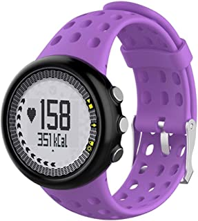 Consumer Electronics Silicone Male Wrist Strap for SUUNTO M1 / M2 / M4 / M5 (Black) (Color : Purple)