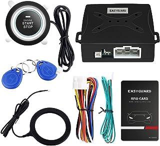 EASYGUARD EC004 Smart Alarm سیستم RFID سیستم فشار دکمه شروع موتور و سیستم بدون کلید سیستم مناسب برای اکثر ماشین های DC12V