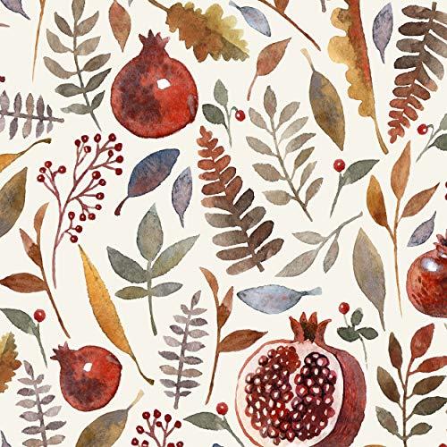 Servietten (2er Set / 40Stück) 3-lagig 33x33cm Herbst Herbstlaub Farn Granatapfel