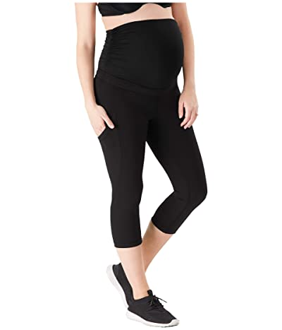 Belly Bandit Power Pocket Capri Leggings (Black) Women