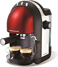 Morphy Richards Accents Espresso Coffee Maker - Red/Stainless Steel