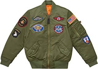 Boys' Little MA-1 Bomber Jacket with Patches