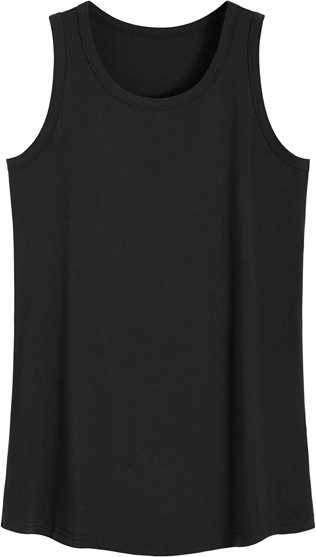 Latuza Women's Bamboo Viscose Sleep Tank Top Sleeveless Pajamas Shirt