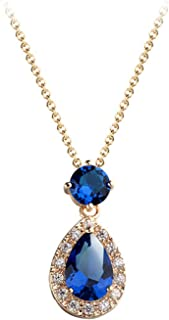 2018 high-end vintage items inlaid with high-grade zircon green star necklace