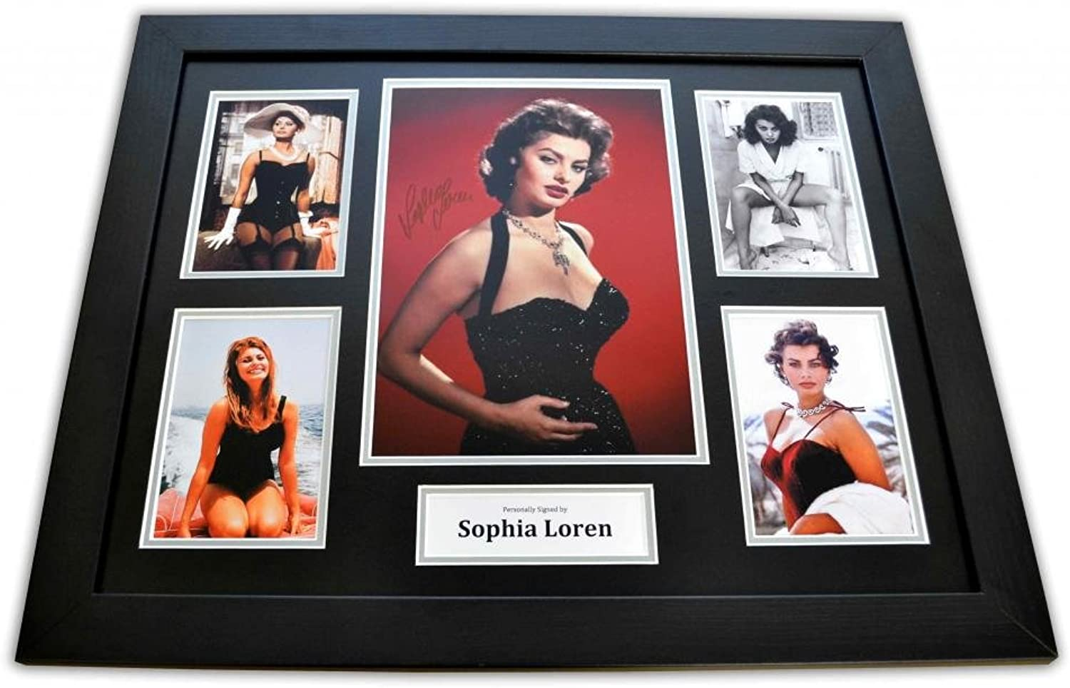 Sophia Loren Signed Photo Large Framed Houseboat Autograph Display Memorabilia