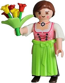 Playmobil Pink Girl Fi?ures 5597 Series 8 German Girl with Flowers Figure