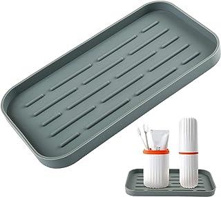 LEMESO Bandeja Baño de Silicona - 25 x 13cm Soporte Poner Aseos Organizador de Cocina Antideslizante Escurridor Impermeabl...