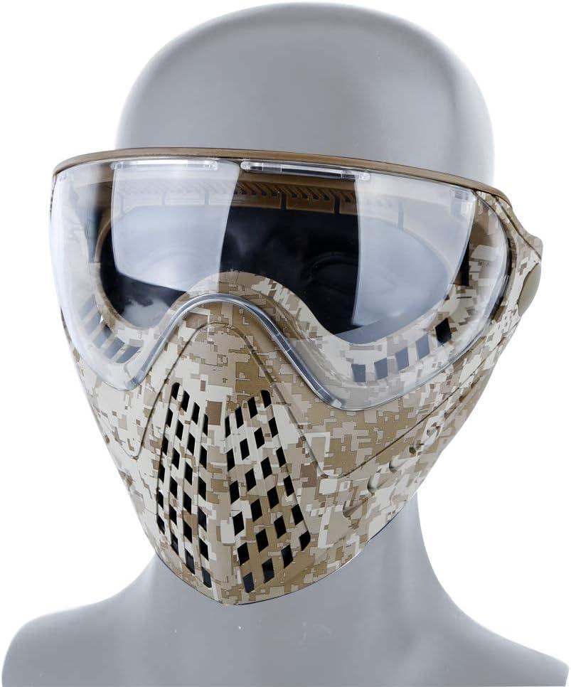 FOJMAI Máscara de airsoft cara completa BBs juego máscara táctica con gafas de protección para paintball caza tiro CS juego