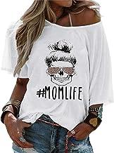 Dames Moeder Leven Shirt Grappige Schedel met Luip...
