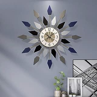 現代の壁掛け時計用リビングルームの壁飾り時計クリエイティブ北欧スタイル時計ミュート大壁掛け時計クリエイティブシンプルなデザイン65×65センチ (Color : A)
