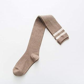 ZhiGe Mujer Calcetines hasta la Rodilla,Muslo Largo Barras de 3 Pares de Calcetines Sobre la Rodilla algodón Las Medias, Calcetines