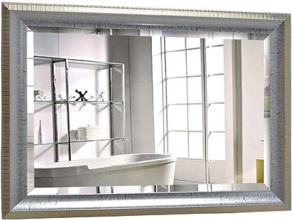 Mirror Specchio Da Bagno Appeso A Parete 5mm Specchio D Argento Specchiera Da Bagno Con Cornice Verde Specchio Quadrato Lavabile 4 Dimensioni Disponibili Dimensioni 50 70cm Amazon It Casa E Cucina