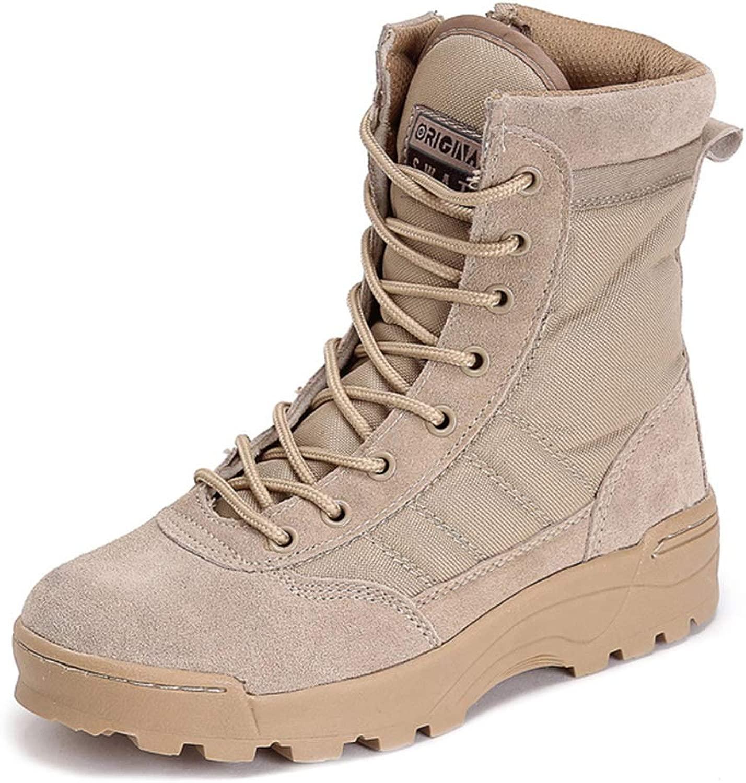 Hope Stivali Militari da Uomo con Cerniera Laterale, Stivali da Combattimento Sautoponi Tattici Desert Comuomodo High-Top Leggeri