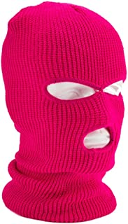 Stickad hel ansiktsmössa med 3 hål vinter varm stickad mössa elastisk skidmössa för utomhussport snowboard motorcykelåknin...